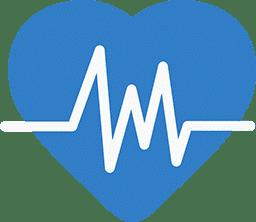 sygdoms ikon blue